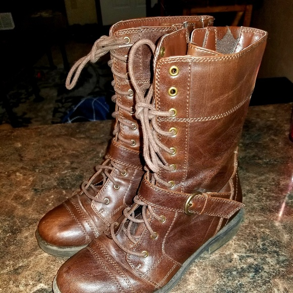 ff30866ca9d6e White mountain flyman brown leather boots